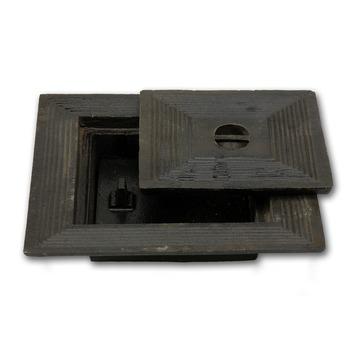 Couvercle de puits double 30x30 cm fonte