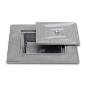 Couvercle en aluminium double 40x40 cm