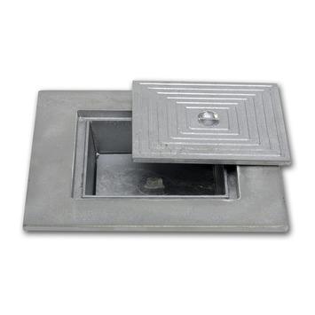 Couvercle en aluminium double 60x60 cm