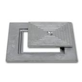 Couvercle en aluminium simple 40x40 cm
