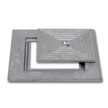 Putdeksel 30x30 cm enkel aluminium