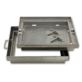 Regard à carreler aluminium dim. ext. 69x69 cm