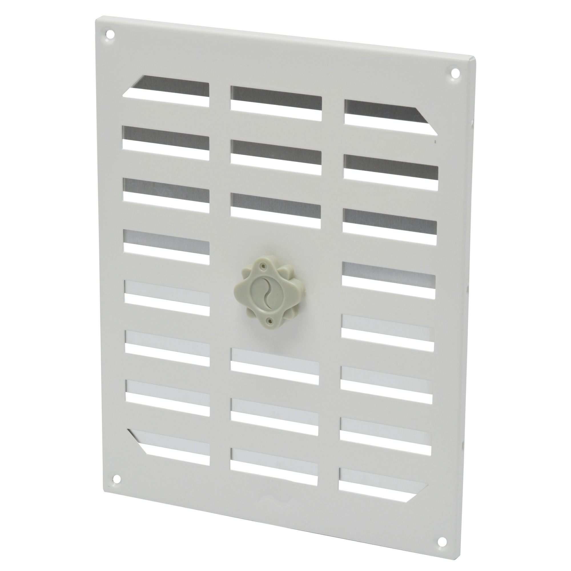 Grille d 39 a ration r glable ivc air aluminium 245x195 mm - Grille aeration reglable ...
