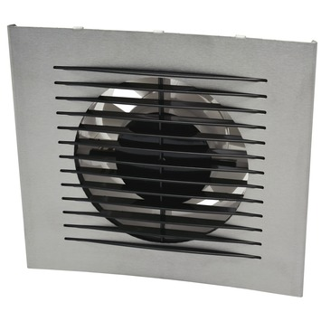 IVC Air Design inbouwventilator aluminium met timer en sensor ø125 mm