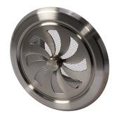 Grille d'aération réglable IVC Air inox ø100 mm