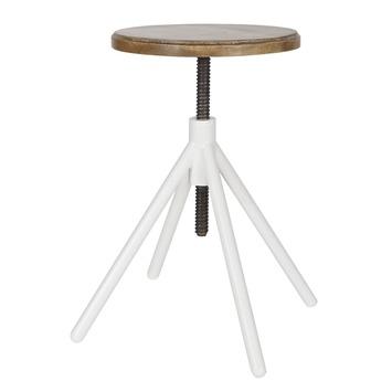 tabouret de piano lily woood 35x35x48 60 cm avec assise en bois et pi tement en m tal laqu. Black Bedroom Furniture Sets. Home Design Ideas