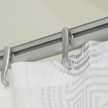 Sealskin Easyroll douchestang mat aluminium 80 x 80 cm