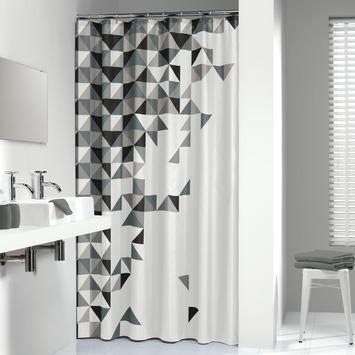 Sealskin Tangram douchegordijn textiel polyester zwart 180 x 200 cm
