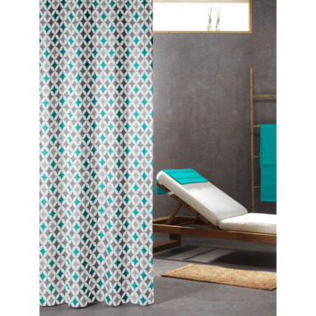Sealskin Diamonds douchegordijn textiel polyester appelblauwzeegroen 180 x 200 cm