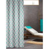 Rideau de douche Diamonds Sealskin polyester 180x200 cm turquoise
