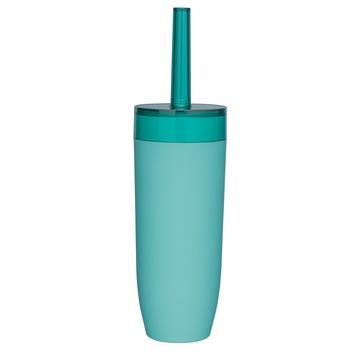 Ensemble brosse WC Bloom Sealskin turquoise