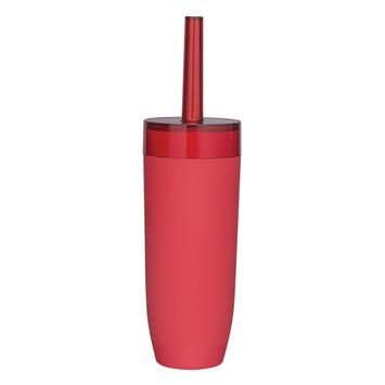 Sealskin Bloom wc-borstelset rood vrijstaand