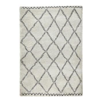 Tapis Varamin 160x230 cm crème/gris foncé