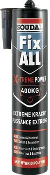 Soudal Fix All montage- en afdichtingskit X-treme Power wit 290 ml