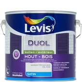 Levis Duol 2 in 1 grondverf en buitenlak zijdeglans parelgrijs 2,5 L