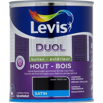 Levis Duol 2 in 1 zijdeglans zwart 750 ml