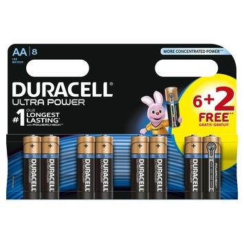 Duracell batterij alkaline AA 6 + 2 stuks