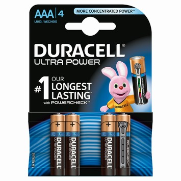 Piles Duracell Ultra Power AAA 4 pack