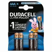 Duracell Ultra Power alkaline AAA-batterijen 4 st