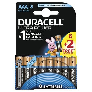 Duracell Ultra Power batterij alkaline AAA 6 + 2 stuks