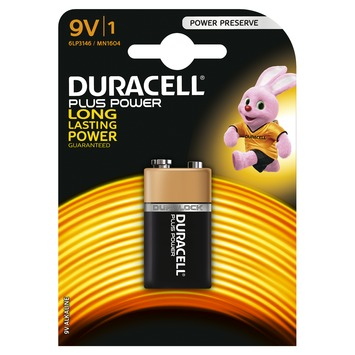 Pile Duracell Plus Power 9V 1 pack