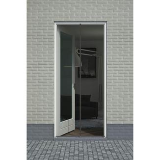rideau moustiquaire de porte aimant fikszo 235x95 cm noir moustiquaires portes et fen tres. Black Bedroom Furniture Sets. Home Design Ideas
