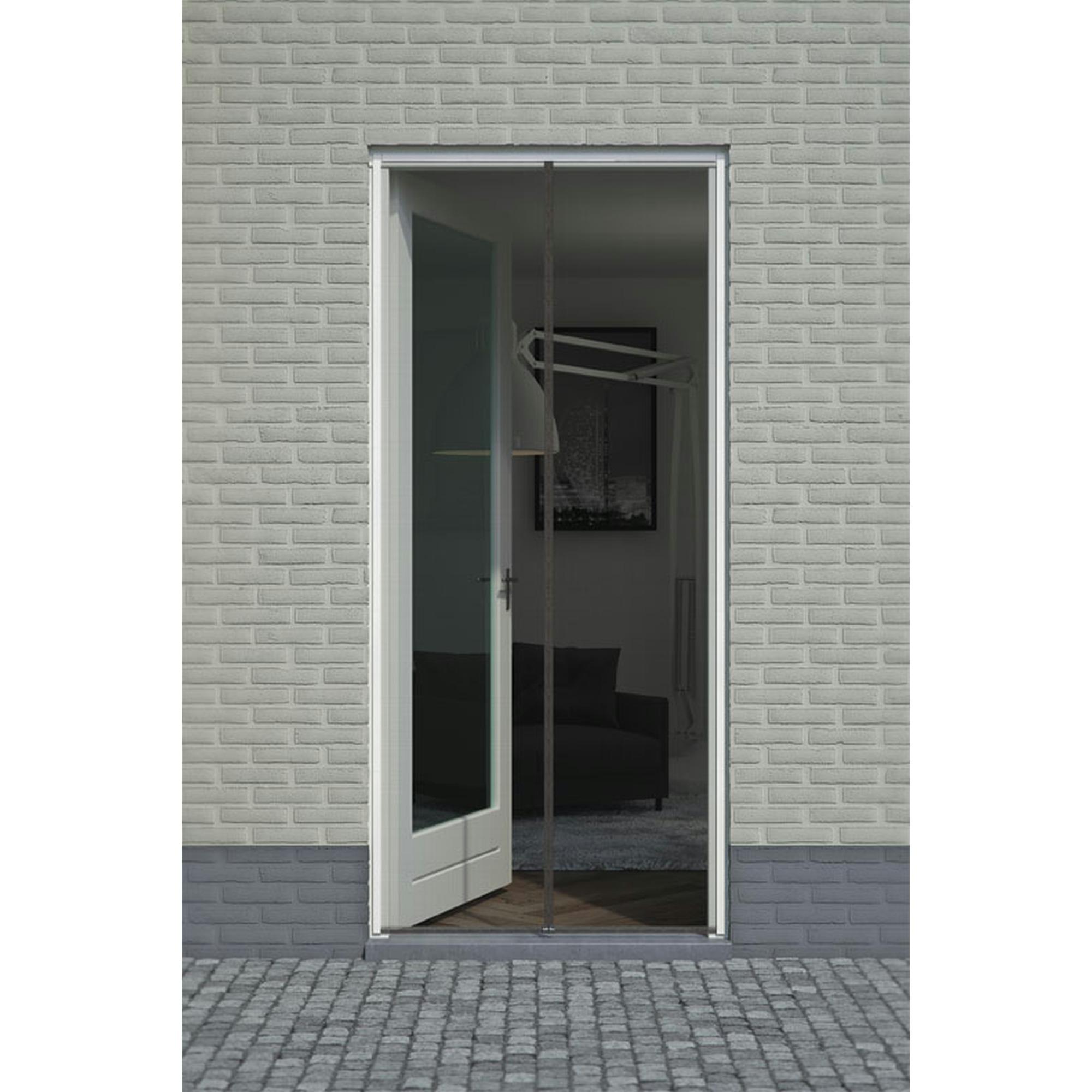 Rideau moustiquaire de porte aimant fikszo 235x95 cm noir - Rideau moustiquaire porte fenetre ...