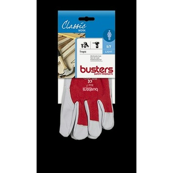 Busters werkhandschoen Tropic rood S