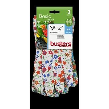 Busters tuinhandschoen Flower Dot 3 paar