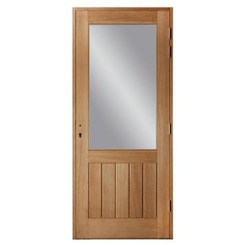 Porte Extérieure Meranti Vitrée Gauche X Cm Portes - Porte vitrée extérieure