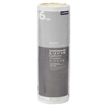 Rouleau de laine de verre GAMMA 6x60x833,5 cm 10 m² Rd=1,5 2 pièces (uniquement en vente au magasin)