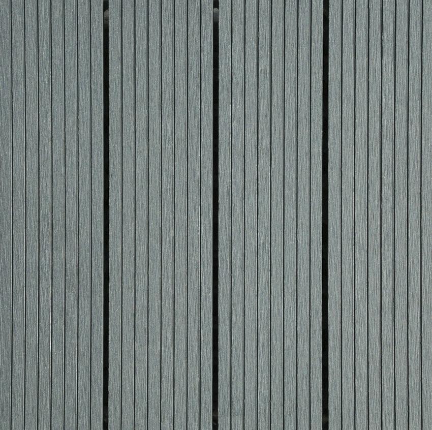 Dalle de jardin composite 6 pi ces gris clair 31x31 cm for Dalle jardin gris