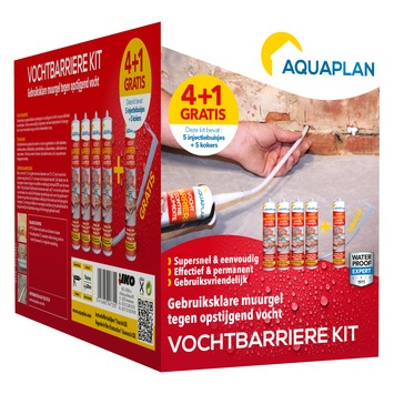 Aquaplan vochtbarrière injectiegel kit 4+1