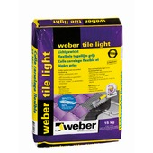 Colle pour carrelage Tile Light Weber 15 kg gris clair
