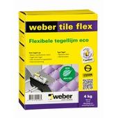 Weber Tile Flex tegellijm grijs 4 kg