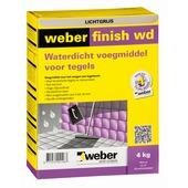 Mortier de jointoyage étanche Weber 4 kg gris clair