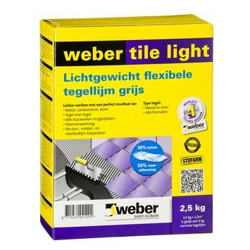 Weber Tile Light tegellijm lichtgrijs 2,5 kg
