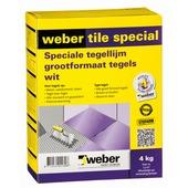 Weber Tile Special tegellijm wit 4 kg