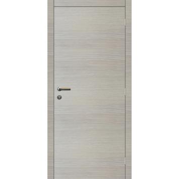 Binnendeurblad Senza horizontaal eik wit 201,5x73 cm