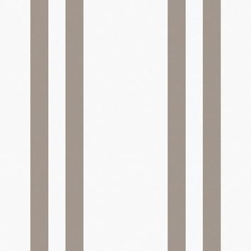 Vliesbehang Streep wit-bruin 32-614