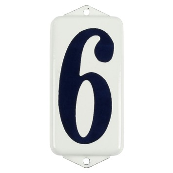 Chiffre de maison 6/9 GAMMA blanc/bleu