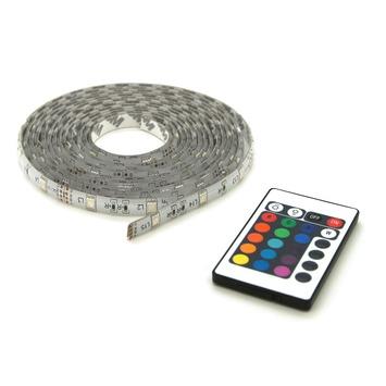ruban lumineux led multicolore prolight 5m ip44 4x30cm. Black Bedroom Furniture Sets. Home Design Ideas