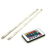 Prolight meerkleurige LEDstrip met afstandsbediening IP44 2x30 cm