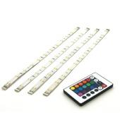 Prolight meerkleurige LEDstrip met afstandsbediening 100 Lm IP44 4x30 cm