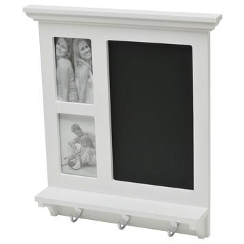 Tableau noir avec crochets Duraline 45x41,5 cm blanc