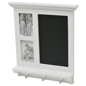 Duraline krijtbord met haakjes 45x41,5 cm wit