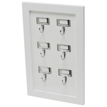 Duraline sleutelbord 48x31 cm wit