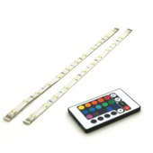 Prolight meerkleurige LEDstrip met afstandsbediening IP20 2x40 cm