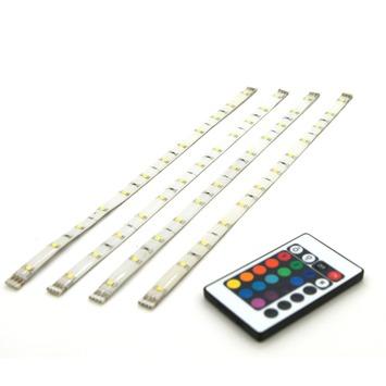 Prolight meerkleurige LEDstrip met afstandsbediening IP20 4x40 cm