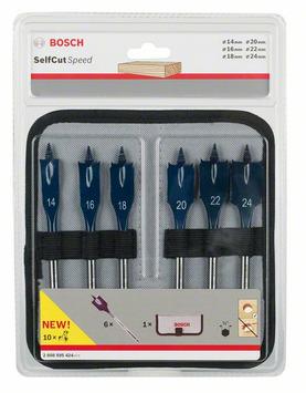 Mèche plates Self Cut Speed, set de 6 pièces 14; 16; 18; 20; 22; 24 mm 6pc